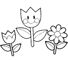 Kindergarten Coloring Page For Kids Spring Coloring Sheets Flowers