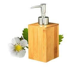 Amazon.com: cheerfullus Wood Square Bamboo Soap and Lotion Dispenser ...