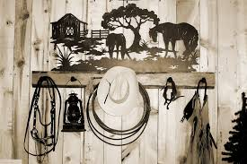 Western Coat Rack Silhouwest Originals Metal Art By Leslie Souza Western Art 60