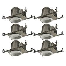 dimmable led recessed lights lowes. utilitech aluminum new construction recessed light kit (fits opening: 6-in) dimmable led lights lowes e
