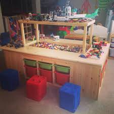 Lego Bedroom Lego Table This One Sits On Casters And Slides Under The Bed