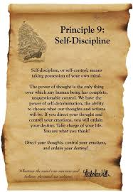Discipline With Purpose Chart Think And Grow Rich Napolean Hill Principle 9 Self