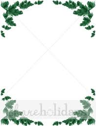 christmas menu borders pine bough photo frame christmas borders