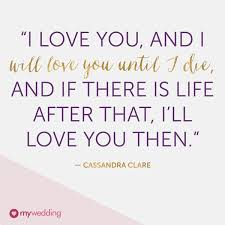 Love Marriage Quotes Amazing Quote About Wedding Poster Along The Deck Railing Cassandra Clare