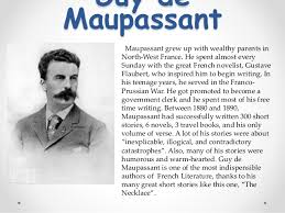 the necklace written by guy de maupassant la necklace the necklace written by guy de maupassant