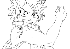 Natsu Dragon Slayer Fairy Tail Coloring Page Free Printable