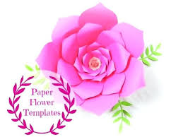 Free Paper Flower Templates Printable Round Tip Vine Leaf Template Paper Vine Templates Paper Leaf Floral