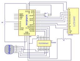 stepper motor control system based on arduino uln2003 chip picture of schematic diagram