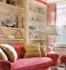 Pink Living Room Set High Wainscoting Designed Behind Grey Living Room Sofa Also Black