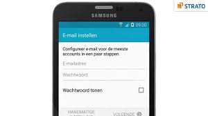 E - mail instellen op je, android, helpdesk