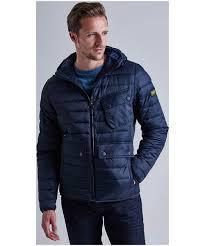 Men's Barbour Ouston Hooded Quilted Jacket & Men's Barbour Ouston Hooded Quilted Jacket - Navy Adamdwight.com