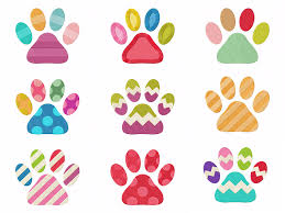 Cat Paw Design Cute Colorful Cat Paws Machine Embroidery Designs Pack