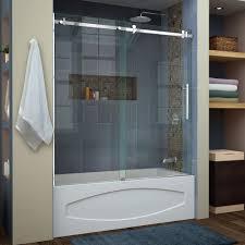 compact bathtub glass doors toronto 53 frameless sliding tub bathtub glass door