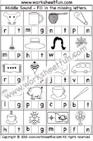 Use these phonics worksheets, videos, and flash cards to help your students practice the basics. Phonics Middle Sounds Free Printable Worksheets Worksheetfun