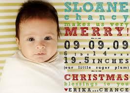 Baby Announcement Christmas Card Barca Fontanacountryinn Com