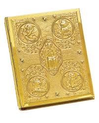 episcopal gospel book and ceremonial covers