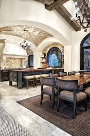 austin brick ceiling with metal combo wine kitchen mediterranean and arched openings herringbone tile