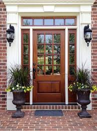 front door with sidelight24 Wooden Front Door Designs To Get Inspired  Shelterness