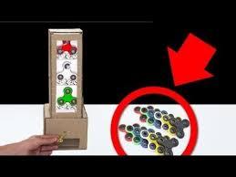 Make Vending Machine Key Inspiration How To Make Spinner Vending Machine Using Key DIY Cardboard