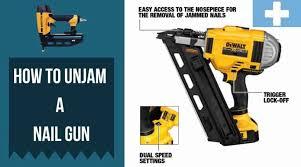 how to unjam a nail gun nailers now