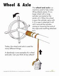 Wheel and Axle Worksheets Simple machines and Wheels