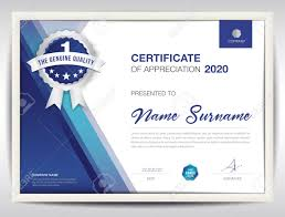 Certificate Layout Design Template Certificate Template Vector Illustration Diploma Layout In A4