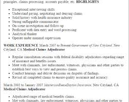 Claims Processor Sample Resume New Claims Processor Resume 44 Gahospital Pricecheck