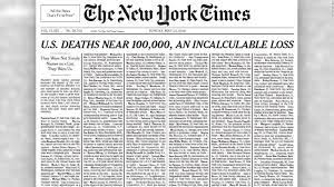 New York Times front page honors ...