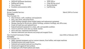 Awesome Janitorial Skills Resume Pictures Simple Resume Office