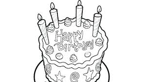 Cake Coloring Pages Tiered Birthday Cake Coloring Pages To Print A