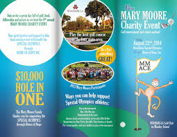 Mary Moore Golf Tournament Brochure - O'neal Design