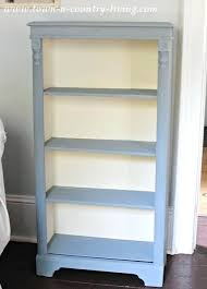 how to paint a bookshelf bookcase with a blend of chalk paints i used one part how to paint a bookshelf