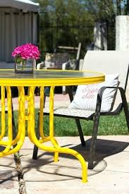 yellow patio furniture. Yellow Metal Patio Furniture Outdoor Spray Paint  A Fun Color . R