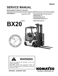 Forklift Dash Warning Lights Warning Service Manual Komatsu Forklift Usa Inc V3 1