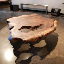 table made out of tree slice coffee tables coffee table replica log coffee table tree stump