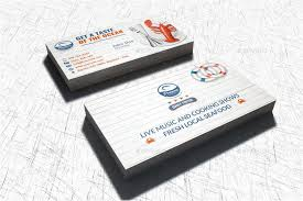 Restaurant Business Cards Templates Free Seafood Restaurant Business