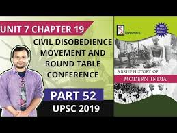 civil disobence movement and round table conference spectrum modern history you