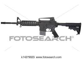 Colt M4a1 Isolated On A White Background Stock Image