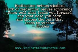 Meditation Quote Peering Through the Veil Meditation Quote by Buddha 83