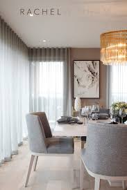 ethereal look over the dining room but white