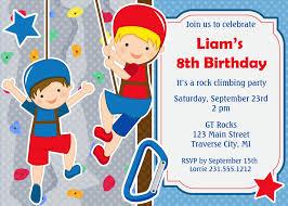 rock climbing birthday invitation kids birthday party printable rock climbing birthday invitation kids birthday party printable invite