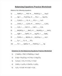 balancing equations worksheet answer key 1 answers worksheets for all ideas chemistry