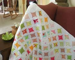 Beautiful Cathedral Window Quilt Patterns: Pillows & More & Colorful Cathedral Window Quilt Adamdwight.com