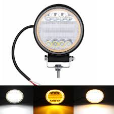 126w Led Work Light Yellow Beam Lamp Drl Amber Angel Eye Light For Car Motorcycle Off Road Truck