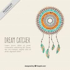 What Is Dream Catcher Hand drawn decorative dream catcher background Vector Free Download 14