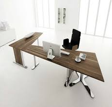 modern desk furniture home office. Contemporary Desk Furniture Home Office Design White Lacquer Computer Black Laminate Table And Walnut Oak Mocca Comfortable Smaal Modern K