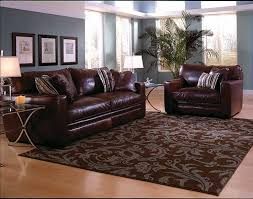 Living Room Design With Brown Leather Sofa Living Room White Red Roses Pattern Living Room Under Table Mat