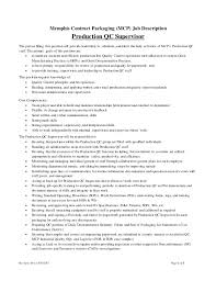 production supervisor job description warehouse supervisor job production qc supervisor job description