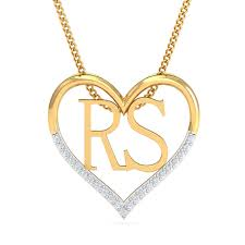 couples initials heart pendant 31 loading zoom