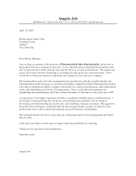 Pharmaceutical Representative Cover Letter 72 Images